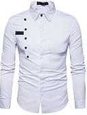 baratos Camisas Masculinas-Homens Camisa Social Geométrica Colarinho Clássico / Manga Longa