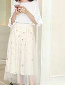 זול שמלות נשים-תחרה אחיד - חצאיות כותנה ליציאה גזרת A חמוד מידות גדולות בגדי ריקוד נשים מותניים גבוהים