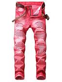 preiswerte Herrenhemden-Herrn Punk & Gothic Street Schick Chinos Jeans Hose Gestreift