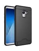 halpa Puhelimen kuoret-Etui Käyttötarkoitus Samsung Galaxy A8 2018 / A8+ 2018 Korttikotelo / Iskunkestävä / Tuella Takakuori Yhtenäinen Kova PC