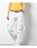 tanie Damskie spodnie-Damskie Puszysta Typu Chino Spodnie Solidne kolory
