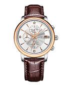 baratos Couro-CADISEN Homens Relógio de Moda / Relógio Elegante Japanês Calendário / Cronógrafo / Impermeável Couro Legitimo Banda Fashion / Elegante Preta / Marrom / Aço Inoxidável