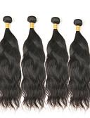 halpa Naisten housut-4 pakettia Mongolialainen Luonnolliset aaltoilevat Remy-hius Hiukset kutoo Hiukset kutoo Hiukset Extensions