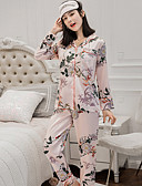 cheap Robes & Sleepwear-Women's Suits Pajamas-Print,Floral