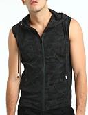זול טישרטים לגופיות לגברים-אחיד עם קפוצ'ון רזה סגנון רחוב ספורט מידות גדולות כותנה, עליונית טנק - בגדי ריקוד גברים בסיסי / ללא שרוולים
