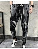 זול מכנסיים ושורטים לגברים-בגדי ריקוד גברים כותנה / פשתן צ'ינו מכנסיים אחיד