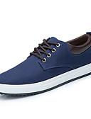رخيصةأون ساعات رياضة-رجالي أحذية الراحة كانفا الربيع / الخريف كاجوال أحذية رياضية أسود / رمادي / أزرق