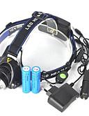 abordables Cuerpos sexyr-Linternas de Cabeza LED LED Emisores 5000 lm 1 Modo de Iluminación Portátil, Profesional, Impermeable Camping / Senderismo / Cuevas, Ciclismo, Caza Azul