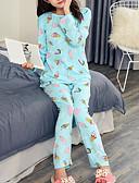 preiswerte Damen Schlafanzüge-Damen Hemdkragen Anzüge Pyjamas Geometrisch