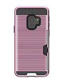 halpa Puhelimen kuoret-Etui Käyttötarkoitus Samsung Galaxy A8 2018 / A8+ 2018 Korttikotelo Takakuori Yhtenäinen Kova Silikoni