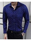 preiswerte Herrenhemden-Herrn Punkt Geometrisch-Geschäftlich Grundlegend Hemd Druck