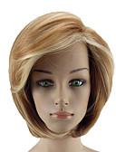 ieftine Rochii de Damă-Peruci Sintetice Pentru femei Drept Blond Cu breton Păr Sintetic Culoare Gradient Blond Perucă Scurt Fără calotă Auriu Deschis hairjoy
