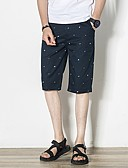 abordables Pantalones y Shorts de Hombre-Hombre Tallas Grandes Shorts Pantalones - Floral