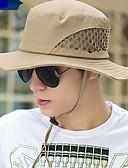 tanie Męskie czapki-Męskie Siateczka Kapelusz słomkowy Solidne kolory