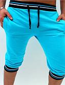 tanie Męskie spodnie i szorty-Męskie Szczupła Szorty Spodnie - Solidne kolory / Kolorowy blok Podstawowy Czerwony / Sport / Lato