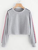 preiswerte Damen Kapuzenpullover & Sweatshirts-Damen Grundlegend Pullover Gestreift / Frühling