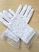 voordelige Avondjurken-Kant Polslengte Handschoen Bloemenmeisjeshandschoenen With Borduurwerk