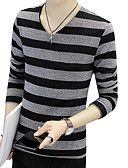 cheap Women's T-shirts-Men's T-shirt - Striped V Neck