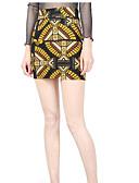 cheap Women's Skirts-Women's Daily / Going out Boho Bodycon Skirts Print / Summer / Fall / Mini