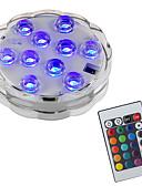 hesapli Gece Elbiseleri-BRELONG® 1pc 2W Sualtı Işıkları Uzaktan kumandalı Su Geçirmez Dekorotif Yüzme havuzu RGB 5.5V