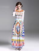 זול שמלות נשים-מידי דפוס, פרחוני / גיאומטרי - שמלה נדן רזה בסיסי / סגנון רחוב ליציאה בגדי ריקוד נשים
