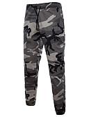 זול מכנסיים ושורטים לגברים-בגדי ריקוד גברים Military כותנה משוחרר מכנסי טרנינג מכנסיים להסוות / ספורט