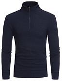 tanie Męskie koszule-Męskie Moda miejska Golf Szczupła Pulower Jendolity kolor Długi rękaw