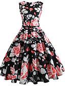 זול שמלות נשים-עד הברך פרחוני - שמלה נדן וינטאג' בגדי ריקוד נשים