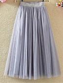 billige Nederdele-Dame Tutus A-linje Nederdele - I-byen-tøj Ensfarvet Net
