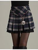 tanie Sukienki-Damskie Mini Ołówek Spódnice - Wyjściowe Solidne kolory