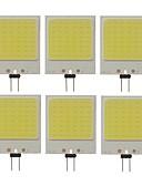 tanie Koszulki i tank topy męskie-SENCART 6szt 10W 300lm G4 Żarówki LED bi-pin T 48 Koraliki LED COB Dekoracyjna Zimna biel 12V / RoHs