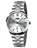 cheap Dress Watches-SKMEI Men's Dress Watch Calendar / date / day / Water Resistant / Water Proof / Noctilucent Stainless Steel Band Elegant / Minimalist Silver