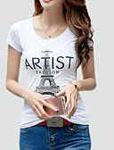 ieftine Tricou-Pentru femei Tricou De Bază-Scrisă Imprimeu