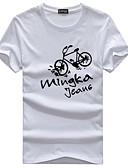 abordables Relojes de Moda-Hombre Activo Básico Camiseta Geométrico Letra