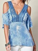 ieftine Tricou-Pentru femei Tricou De Bază-Mată Decupată