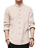cheap Men's Shirts-Men's Sports Beach Club Street chic Plus Size Cotton Shirt - Solid Colored Geometric Print