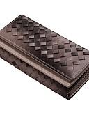 cheap Black & White Swimwear-Women's Bags leatherette Wallet Tiered Crocodile Coffee
