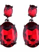 abordables Trajes de Dos Piezas de Mujer-Mujer Cristal Pendientes colgantes Pendients de aro - Cristal Gota Europeo Rojo / Verde / Azul Para Diario Enamorado