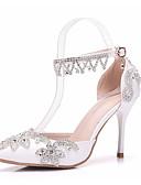 cheap Cocktail Dresses-Women's Shoes PU(Polyurethane) Spring / Fall Comfort / Basic Pump Heels Stiletto Heel White