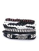 cheap Women's Hats-Men's Wrap Bracelet - Leather European, Fashion Bracelet Black For Gift Daily / 4pcs
