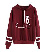 preiswerte Damen Kapuzenpullover & Sweatshirts-Damen Übergrössen Grundlegend Kapuzenshirt - Druck, Geometrisch / Frühling