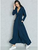 baratos Vestidos de Mulher-Mulheres Tamanhos Grandes Para Noite Sofisticado Moda de Rua Delgado Tubinho Bainha Duas Peças Vestido Sólido Decote em V Profundo