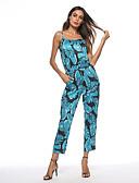 cheap Evening Dresses-Women's Holiday / Beach Basic Slim Jumpsuit - Floral High Waist Strap / Summer