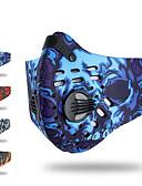 お買い得  メンズTシャツ&タンクトップ-XINTOWN スポーツマスク フェイスマスク レッド ブルー グレー 冬 防風 高通気性 防塵 サイクリング / バイク 日常使用 男女兼用 塗装 ナイロン / マウンテンサイクリング / ロードバイク