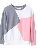 povoljno Majica s rukavima-Žene Aktivan / Osnovni Hlače - Color block Blushing Pink / Jesen