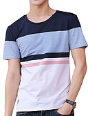 ieftine Pantaloni Bărbați si Pantaloni Scurți-Bărbați Tricou De Bază Șic Stradă - Mată Bloc Culoare