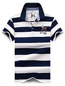 tanie Męskie koszulki polo-Rozmiar plus Polo Męskie Podstawowy / Moda miejska Bawełna Sport Kołnierzyk koszuli Prążki / Krótki rękaw