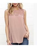 baratos Camisas Femininas-Mulheres Blusa - Para Noite Fofo Sólido