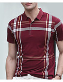 billige Sportsklokke-Skjortekrage Polo Herre - Stripet
