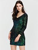 tanie Sukienki-Damskie Prosty Spodnie - Solidne kolory Cekiny Zielony / Wyjściowe / Rurki